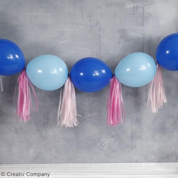 Guirlande de pampilles en papier de soie à monter - différents coloris - 35 cm - 13 pcs - Photo n°2