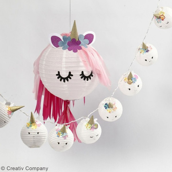 Guirlande de pampilles en papier de soie à monter - différents coloris - 35 cm - 13 pcs - Photo n°3