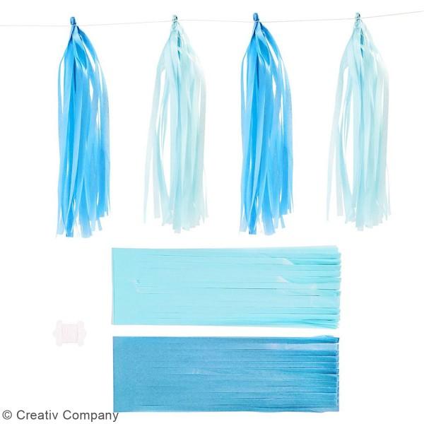 Guirlande de pampilles en papier de soie à monter - différents coloris - 35 cm - 13 pcs - Photo n°4
