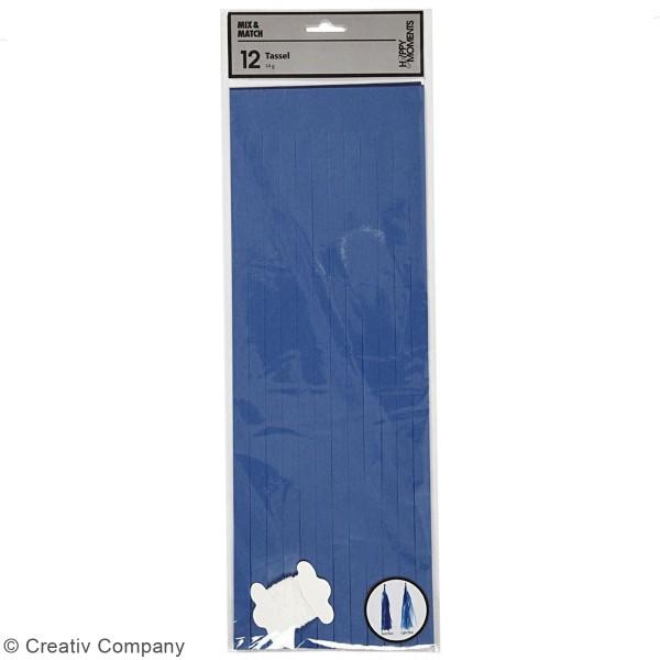 Guirlande de pampilles en papier de soie à monter - différents coloris - 35 cm - 13 pcs - Photo n°5