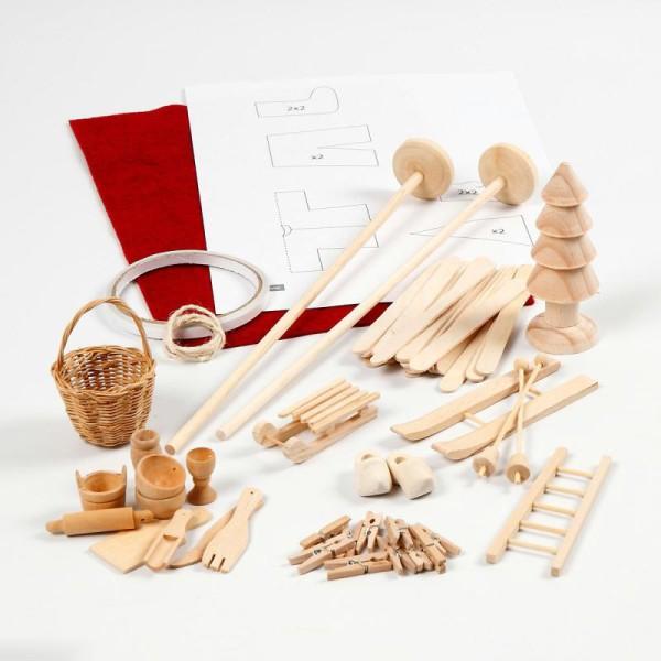 Kit décoration lutin de Noël - 14 pcs - Photo n°2