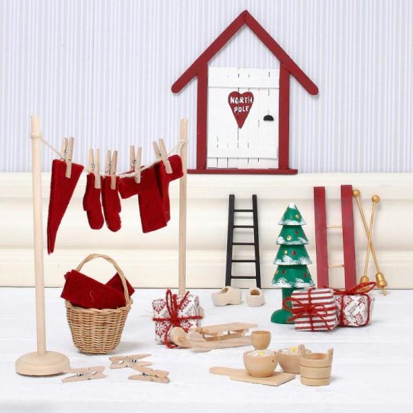 Kit décoration lutin de Noël - 14 pcs - Photo n°3