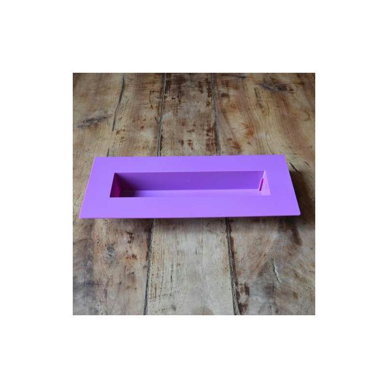 centre de table rectangulaire violet support pour art floral creavea. Black Bedroom Furniture Sets. Home Design Ideas