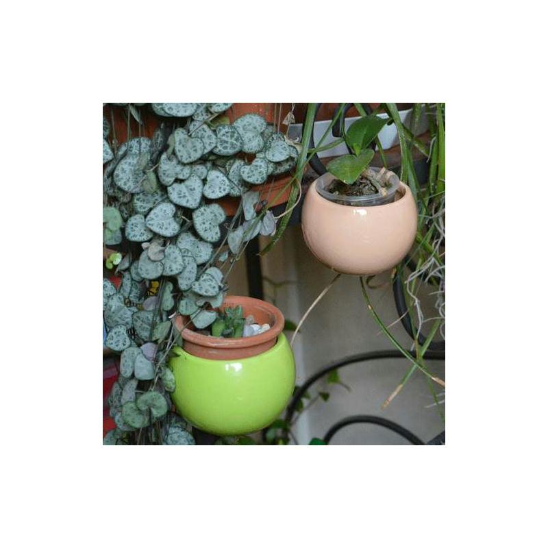 Mini cache pot aimant vert diam tre global environ 8 cm for Cache pot design interieur