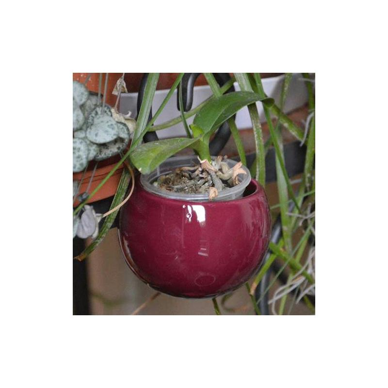 Mini cache pot aimant aubergine diam tre global environ for Cache pot design interieur