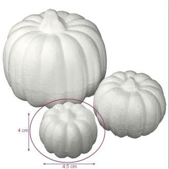 Petite citrouille en polystyrène, dim. 4 x 4,5 cm, légume à décorer et customiser pour Halloween