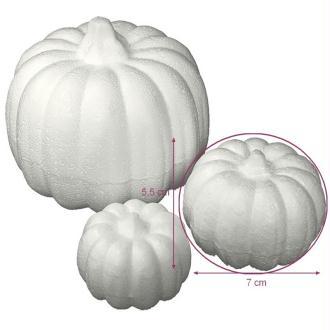 Citrouille en polystyrène, dim. 5,5 x 7 cm, légume à décorer et customiser pour Halloween