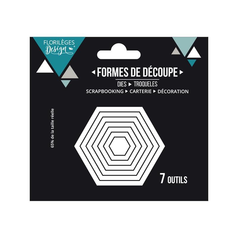 outils de d coupe hexagones basiques matrice de d coupe. Black Bedroom Furniture Sets. Home Design Ideas