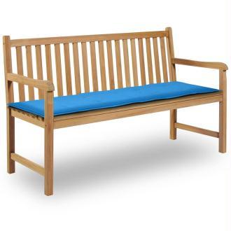 vidaXL Coussin de banc de jardin Bleu 150 x 50 x 3 cm