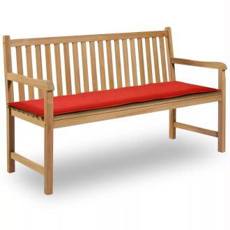 vidaXL Coussin de banc de jardin Rouge 150 x 50 x 3 cm