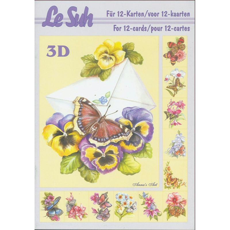 Bloc Livre 3D A5 à découper Papillon - Photo n°1