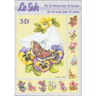 Bloc Livre 3D A5 à découper Papillon
