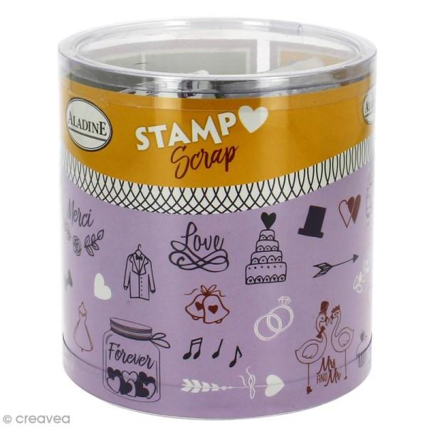 Kit 26 tampons Stampo'scrap Mariage - Photo n°1
