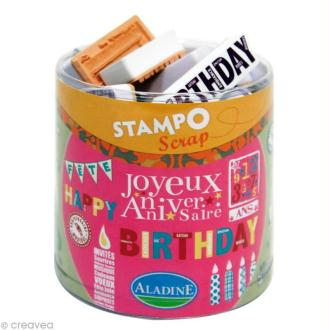 Kit 34 tampons Stampo'scrap Anniversaire