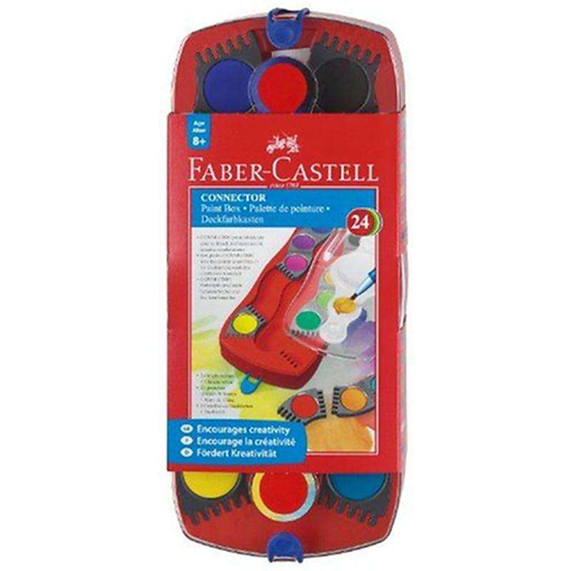 Faber-Castell Palette de peinture 24 couleurs (Import Royaume Uni) - Photo n°1