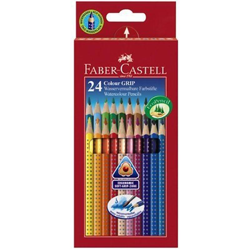 faber castell crayons couleur colour grip 2001 24 couleurs. Black Bedroom Furniture Sets. Home Design Ideas