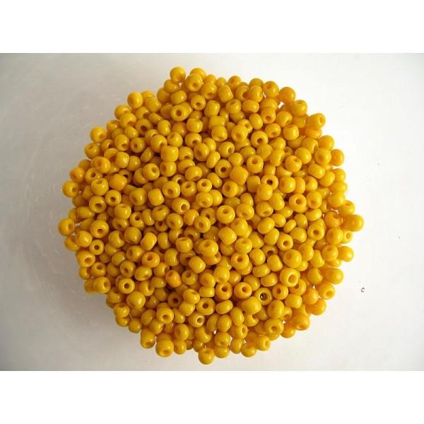 lot 20g perles de rocaille 4mm JAUNE ////4