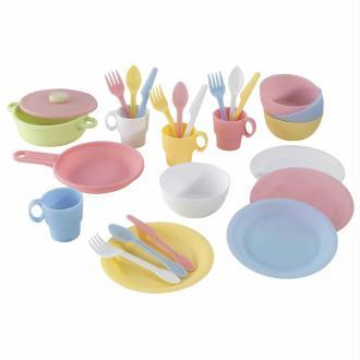 KidKraft Ensemble de jouets de vaisselle 27 pcs Pastel 63027