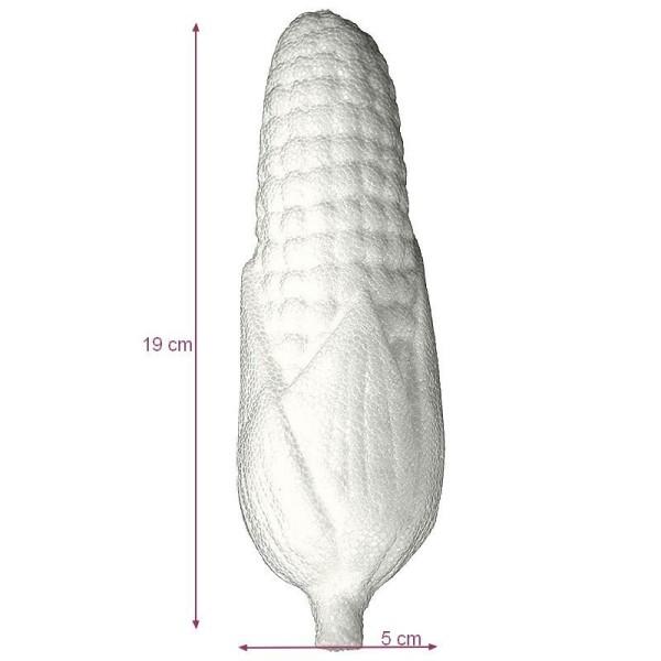 Épis de maïs en polystyrène, dim. 19 x 5 cm, légume estival à décorer et customiser - Photo n°1