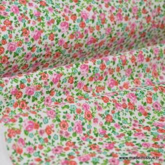 Cretonne coton imprimé fleurettes LISE