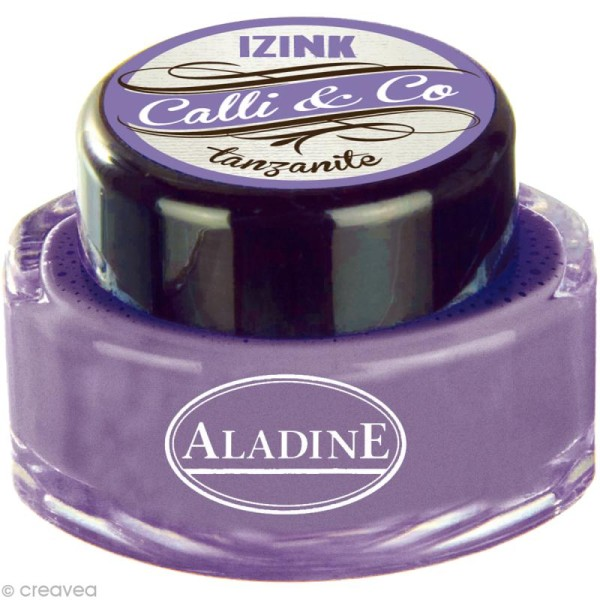Encre calligraphie Violet Tanzanite 15 ml - Photo n°1