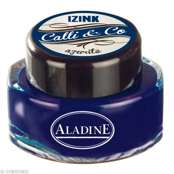 Encre calligraphie Bleu azurite 15 ml - Photo n°1