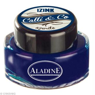 Encre calligraphie Bleu azurite 15 ml
