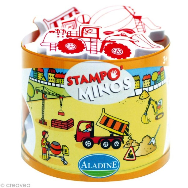 Kit 10 tampons enfant Stampo'minos Chantier - Photo n°1