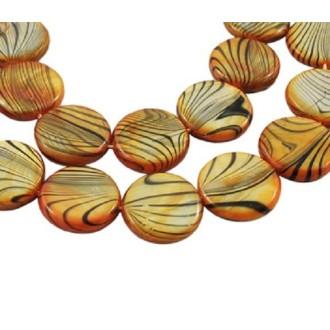 LOT 10 Perles COQUILLAGE motifs