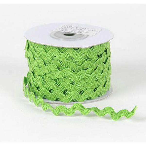 2 m de ruban croquet couture tissu 0.5 cm VERT - Photo n°1