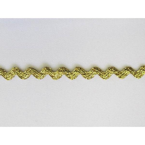 1 m de ruban croquet couture tissu 0.8 cm DORE METALIQUE - Photo n°1