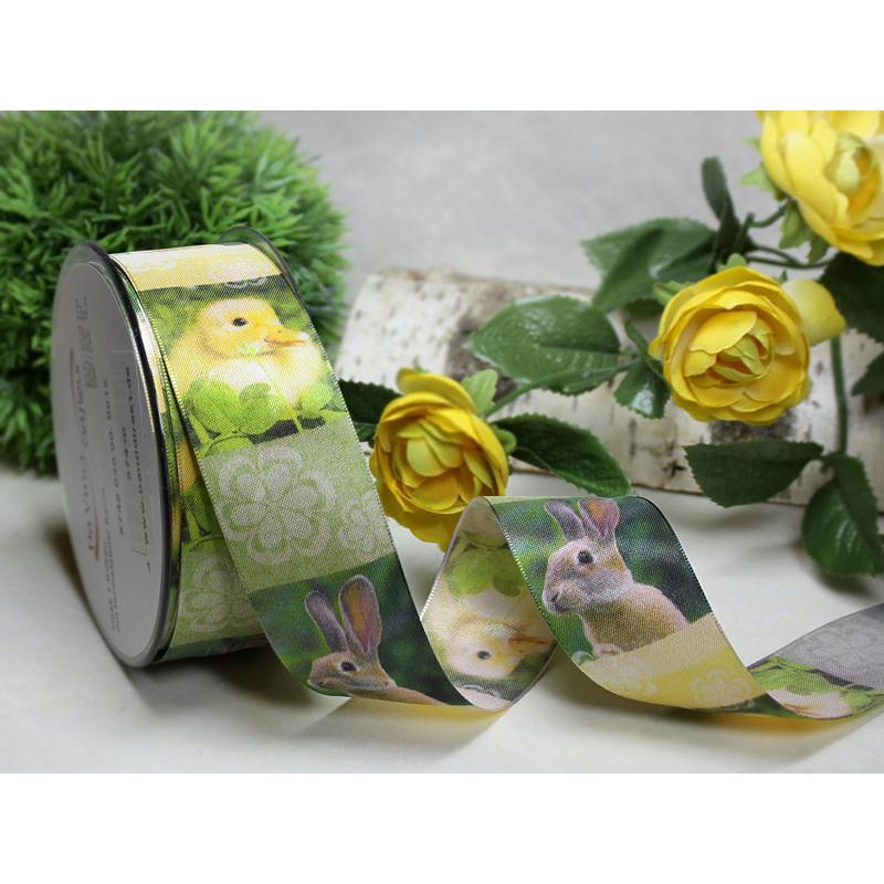 1 m de ruban galon fantaisie 4 cm couture scrapbooking lapin poussin ruban fantaisie creavea - 4 images 1 mot poussin lapin ...