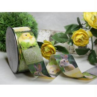 1 m de ruban galon fantaisie 4 cm couture scrapbooking LAPIN POUSSIN