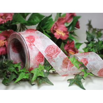 1 m de ruban galon fantaisie 4 cm couture scrapbooking FLEUR LA ROSE