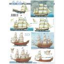 Feuille 3D à découper A4 Mer voilier - Photo n°1