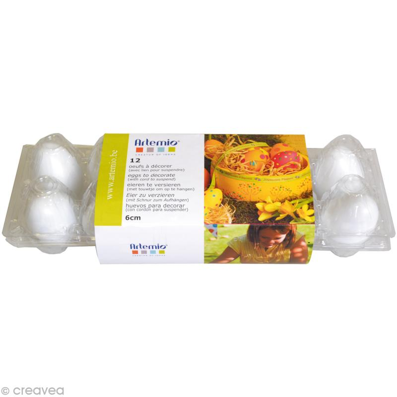 Oeuf de Pâques à décorer 6 cm x 12 - Photo n°1