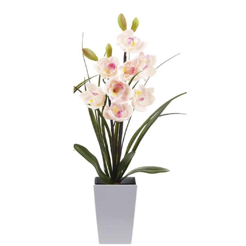Lampe led orchid e rose artificielle 59 cm d coration for Plante grimpante artificielle exterieur
