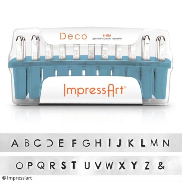 Set de tampons Alphabet majuscule pour gravure sur métal - Deco - 27 pcs - Photo n°2