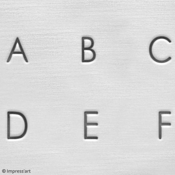 Set de tampons Alphabet majuscule pour gravure sur métal - Deco - 27 pcs - Photo n°6