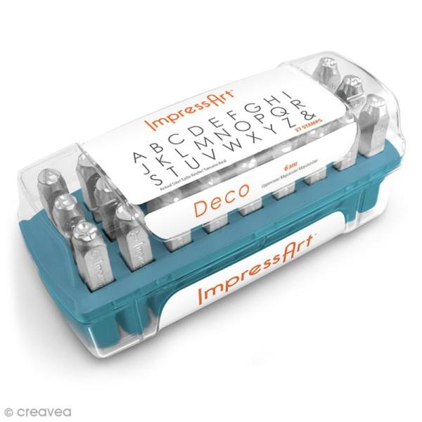 Set de tampons Alphabet majuscule pour gravure sur métal - Deco - 27 pcs - Photo n°1