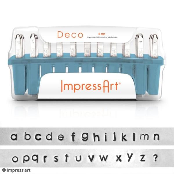 Set de tampons Alphabet minuscule pour gravure sur métal - Deco - 27 pcs - Photo n°2