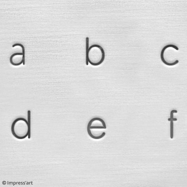 Set de tampons Alphabet minuscule pour gravure sur métal - Deco - 27 pcs - Photo n°5