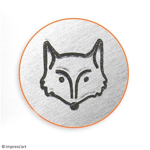 Tampon poinçon pour gravure métal - Tête de renard - 6 mm - Photo n°2
