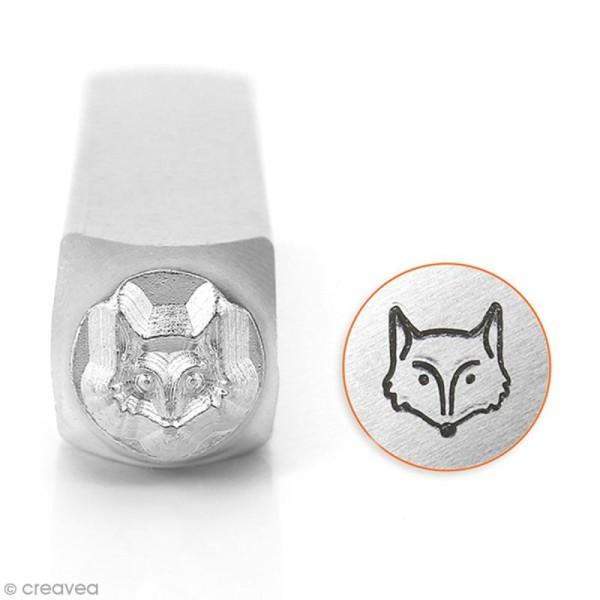 Tampon poinçon pour gravure métal - Tête de renard - 6 mm - Photo n°1