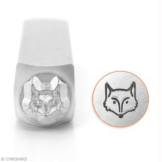 Tampon poinçon pour gravure métal - Tête de renard - 6 mm