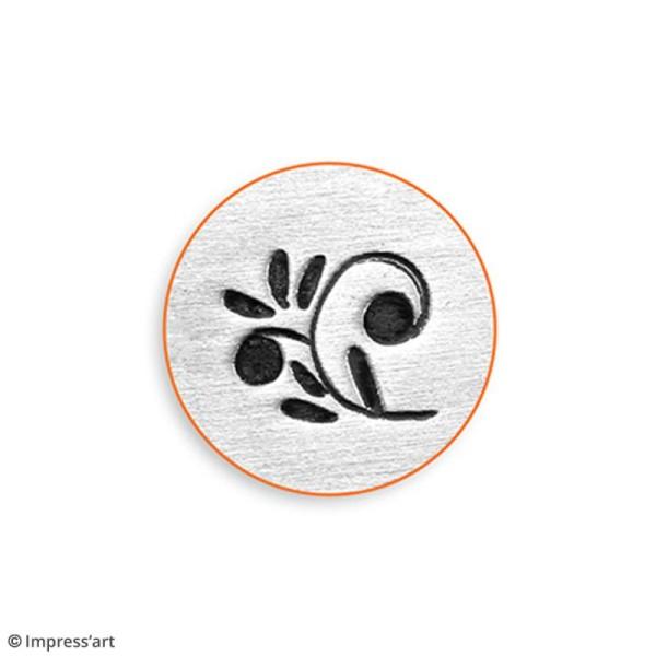 Tampon poinçon pour gravure métal - Arabesque florale - 6 mm - Photo n°3