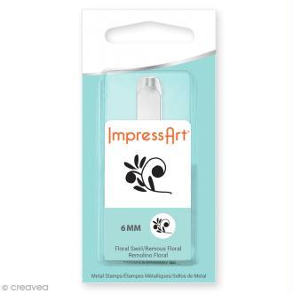 Tampon poinçon pour gravure métal - Arabesque florale - 6 mm
