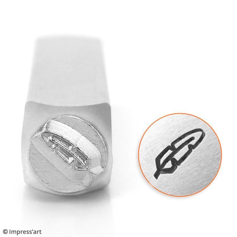 Tampon poinçon pour gravure métal - Plume - 6 mm - Photo n°2
