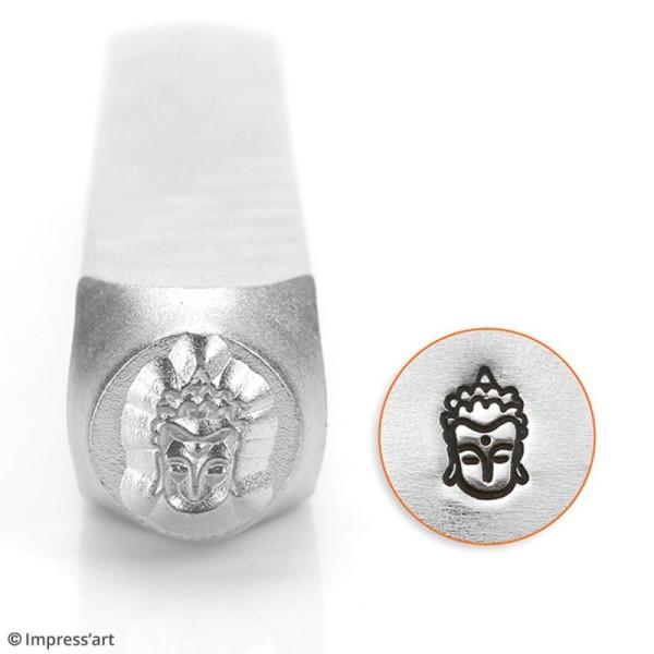 Tampon poinçon pour gravure métal - Bouddha - 6 mm - Photo n°2