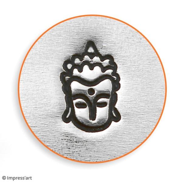Tampon poinçon pour gravure métal - Bouddha - 6 mm - Photo n°3
